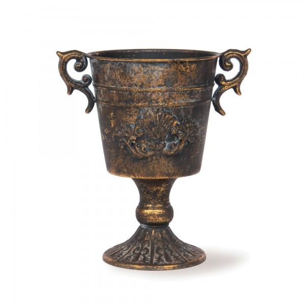 Pokal 'Loisette', messing-antik, T 20 cm, B 13 cm, H 21 cm
