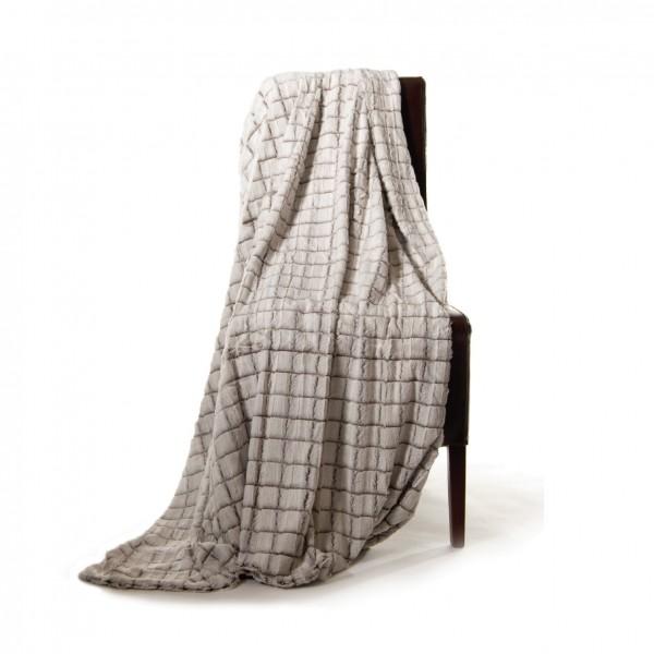 "Decke ""Netz"", weiß, L 200 cm, B 150 cm"