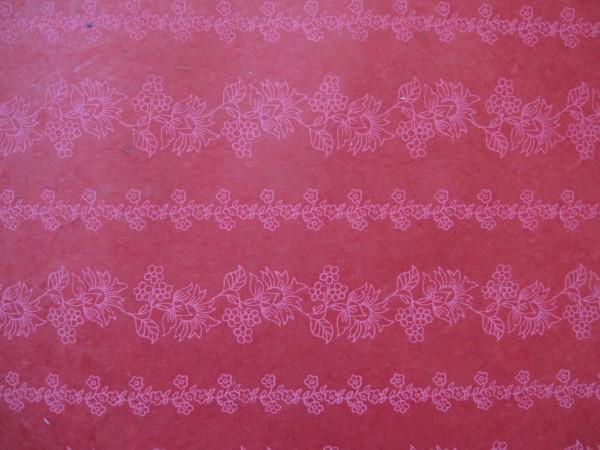 Geschenkpapier Blumenranken, rot, T 5 cm, B 7,6 cm, H 5,1 cm