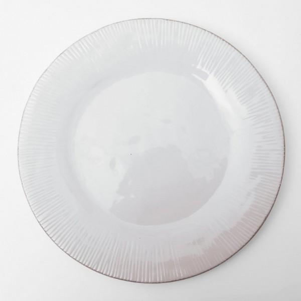 """Teller """"Organic"""", weiß, H 2 cm, Ø 26,5 cm"""