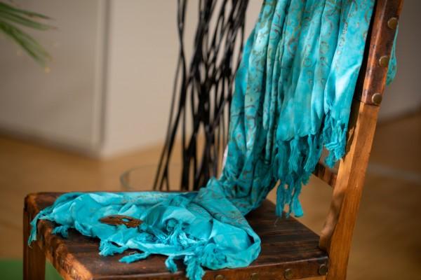 Sarong mit Kokosnuss-Schnalle Batik, mint, grau, T 115 cm, B 225 cm