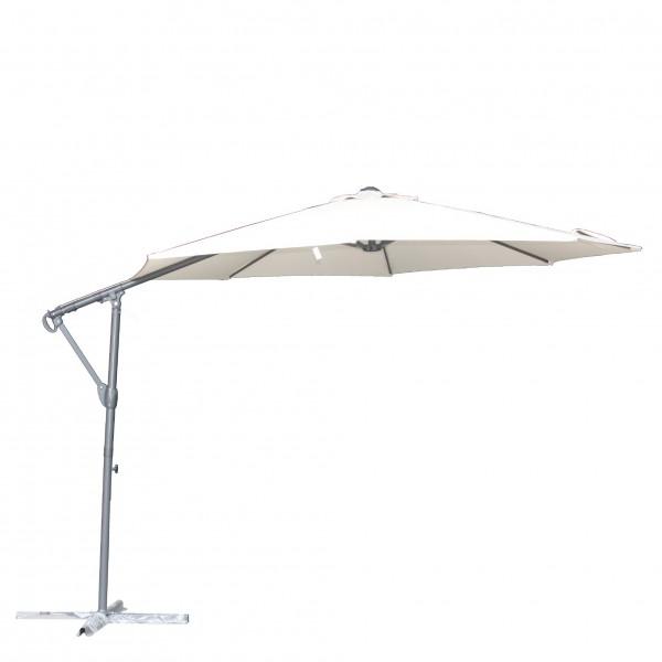 """Sonnenschirm """"Alassio"""", schwenk- und ausfahrbar, beige, Ø 3 m"""