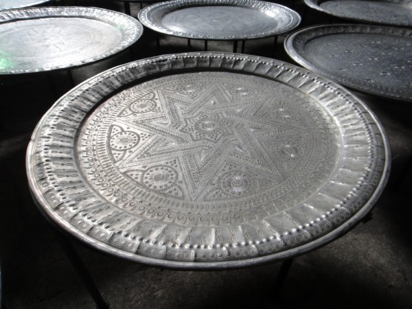 Couchtisch aus Metall, Ø 90 cm