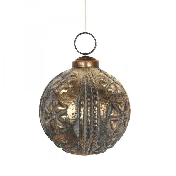 Anhänger Kugel, gold, Ø 8 cm, H 8 cm