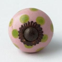 Keramik Möbelknopf, handglasiert, Ø 3 cm