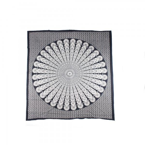 """Tagesdecke """"Kanika"""", aus 100% Baumwolle, schwarz/weiß, L 260 cm, B 220 cm"""