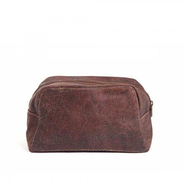 Kulturtasche 'Fortissio', braun, aus Leder, B 26 cm, H 15 cm