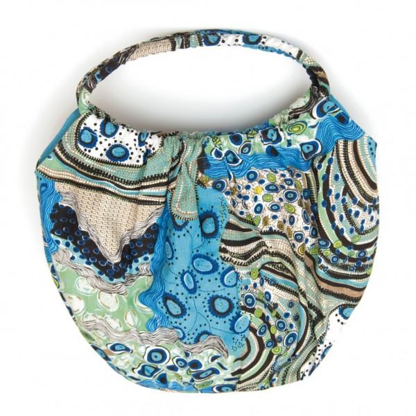 """Shopper """"Ocean"""", türkis/blau, B 50 cm, H 30 cm"""