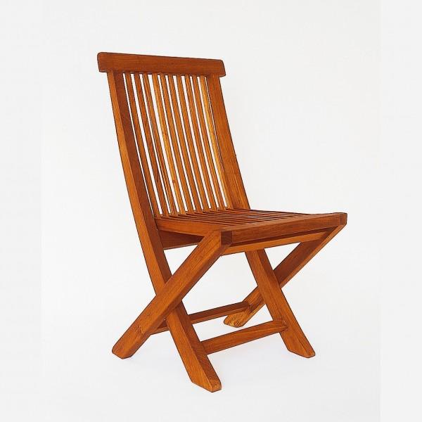 """Stuhl """"Arte"""" aus Teakholz, klappbar, natur, H 60 cm"""