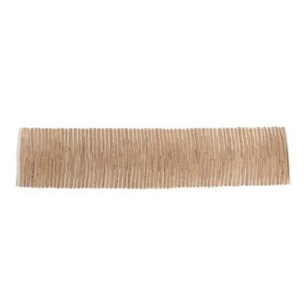 handgewebter Tischläufer, beige/weiß, L 150 cm, B 35 cm