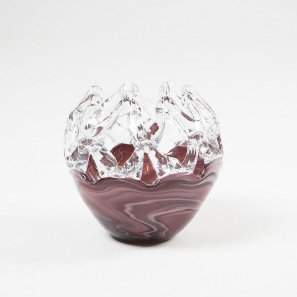 Glasvase, Ø 15 cm, H 13 cm