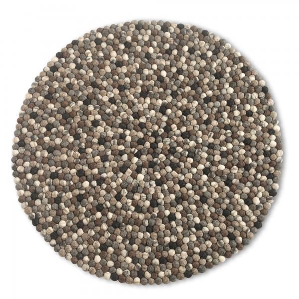 Filz-Teppich, Ø 160 cm, H 2,2 cm