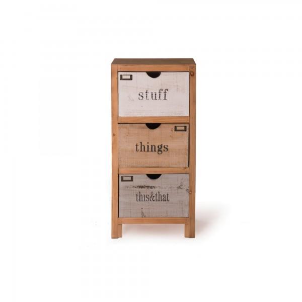"""Schubladenschrank """"Tim"""", mit 3 Schubladen, T 30 cm, B 43 cm, H 89 cm"""