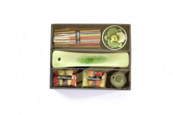 Räucher-Box, multicolor, T 4 cm, B 17 cm, H 2,5 cm