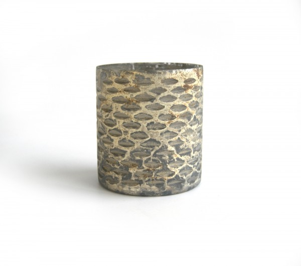 """Teelichthalter """"Votive L"""", antik-silber, Ø 9 cm, H 10 cm"""