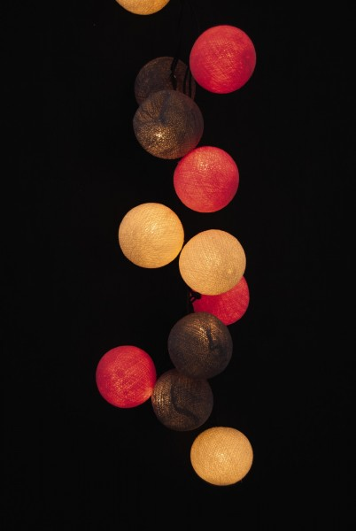 Lichterkette 35 Kugeln, multicolor, LED, L 470 cm