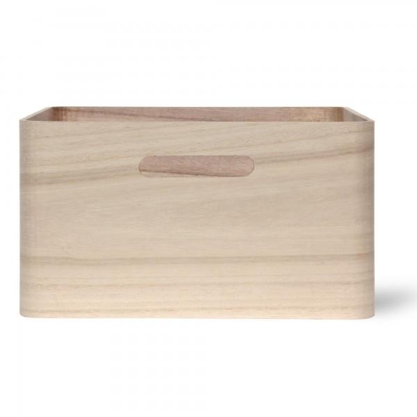 Holzkasten 'Birkir' 7/9, hellbraun, T 27 cm, B 27 cm, H 14 cm