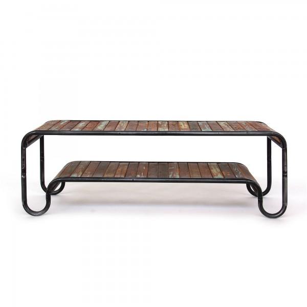 TV-Board / Ablage 'Groover', schwarz, braun, T 40 cm, B 140 cm, H 45 cm