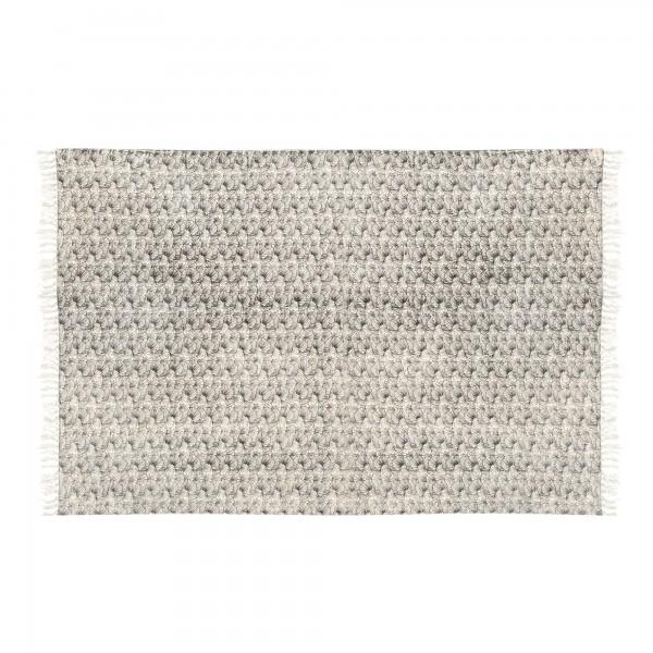 Teppich 'Mandana', schwarz, weiß, T 140 cm, B 200 cm