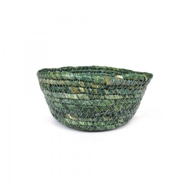 Korb 'Perno' S, grün, Ø 18 cm, H 8 cm
