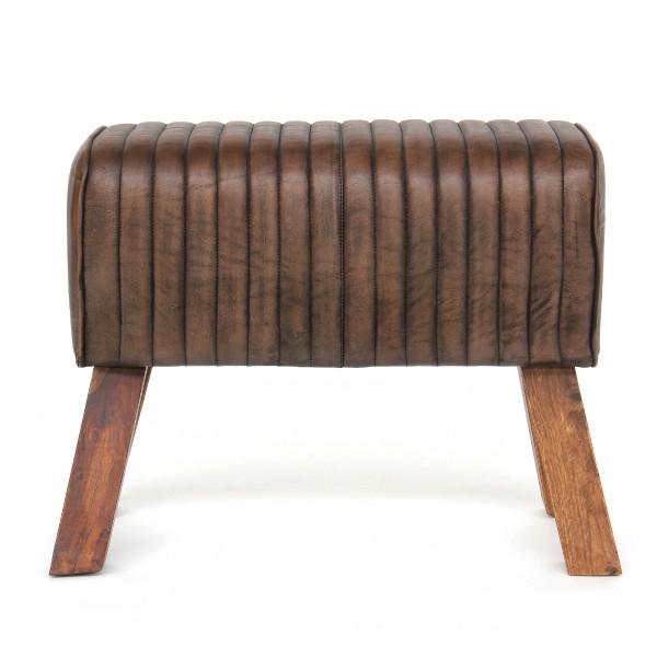 Sitzbock 'Bull', braun, T 30cm, B 78cm, H 51cm