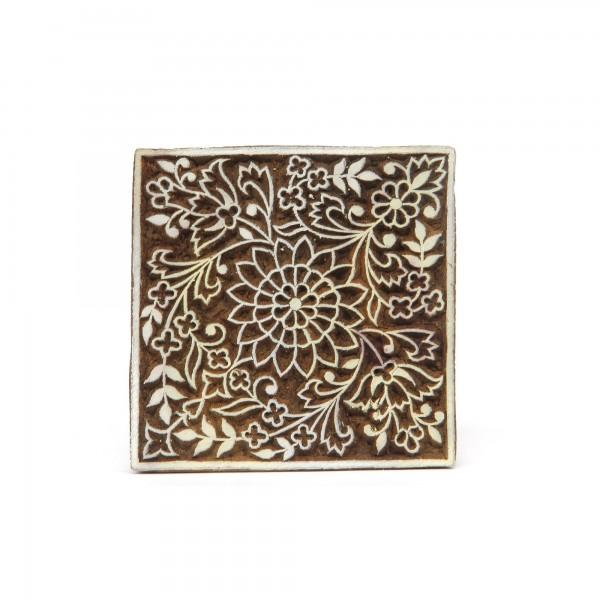 Textilstempel, natur, T 9 cm, B 9 cm