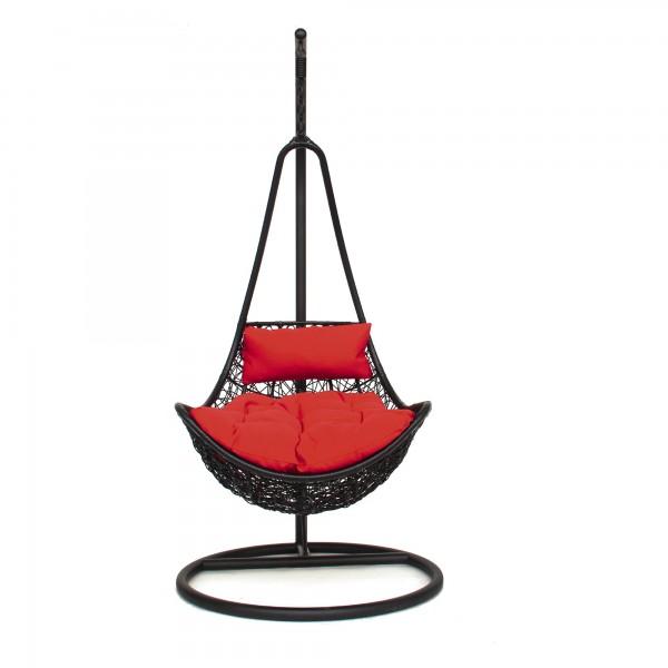 Freischaukler 'Snap', schwarz, schwarz, rot, T 83 cm, B 71 cm, H 131 cm