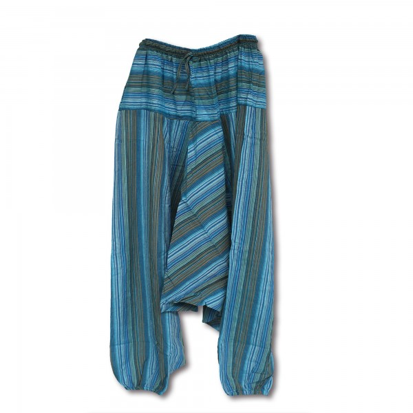 Aladinhose Blautöne, blautöne, B 65 cm, H 98 cm