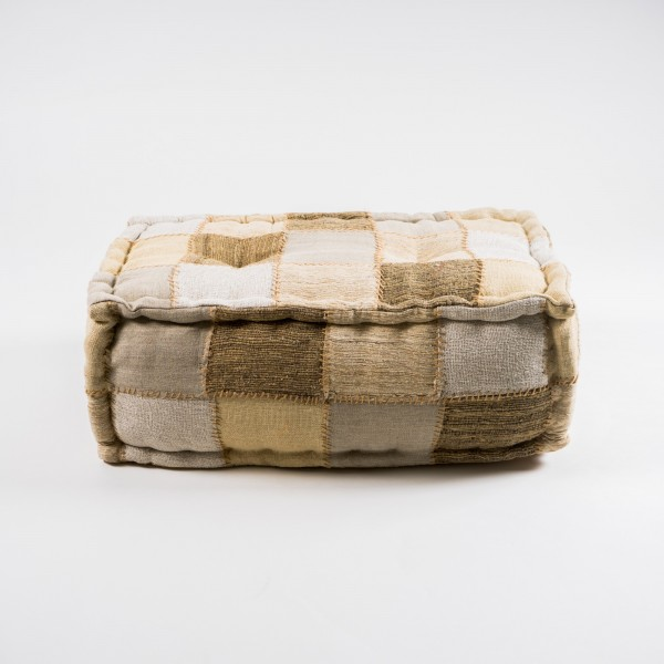 Sitzpouf, beige, L 35 cm, B 60 cm, H 23 cm