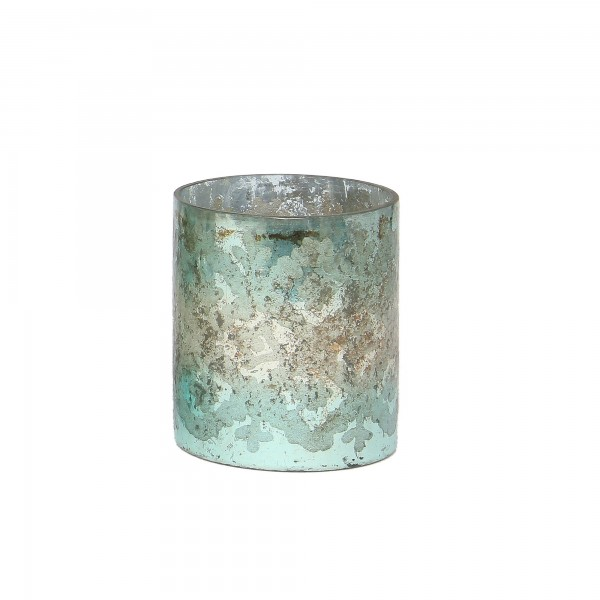 Windlicht 'Antik Aquamarin' S, aquamarin, Ø 10 cm, H 12 cm