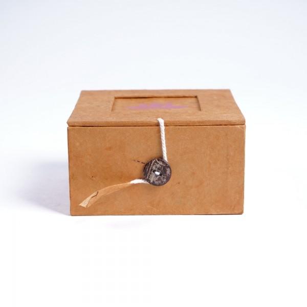 Lotusbox aus Loktapapier, orange, L 11 cm, B 11 cm, H 5,5 cm