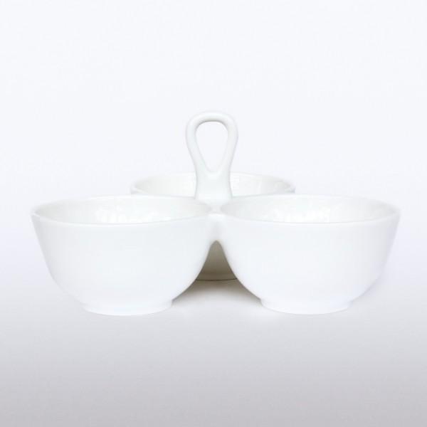 3er Schale 'Triole', weiß, Ø 20 cm, H 7 cm