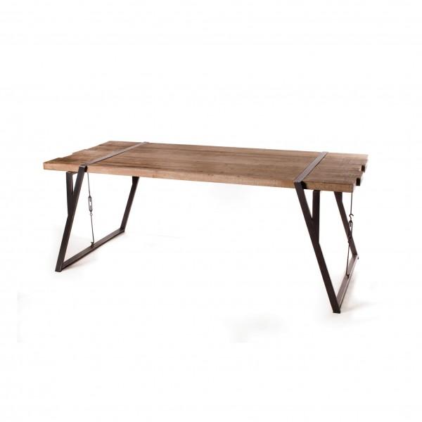 Tisch 'Clayton', braun, L 94 cm, B 202 cm, H 76 cm