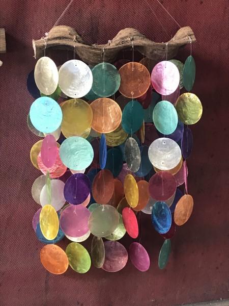 Windspiel 'Kreise', multicolor, T 25 cm, B 40 cm, H 7 cm