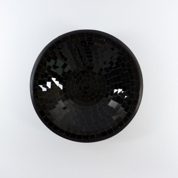 Glasmosaikschüssel, schwarz, Ø 28 cm