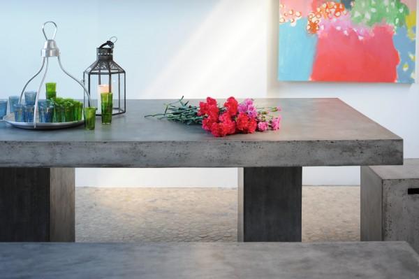 Tisch 'Tribeca', grau, H 77 cm, B 200 cm, T 100 cm