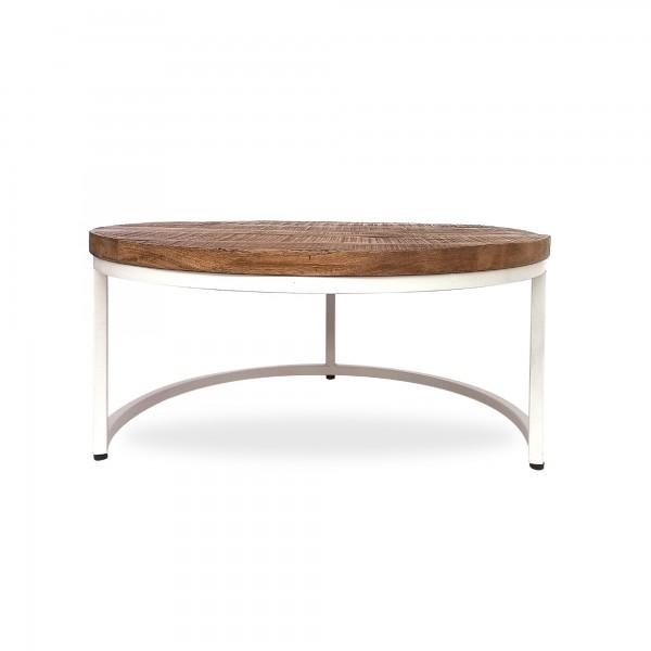 Tisch 'Stokes' S, natur, weiß, Ø 70 cm, H 34 cm