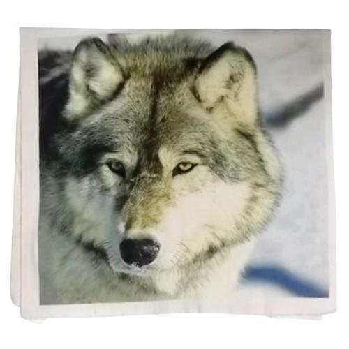 "Kissen ""Wolf"" inkl. Füllung, weiß, L 50 cm, B 50 cm"