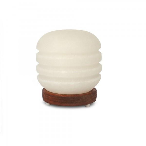 Salzlampe 'Yivli Silindir', weiß, T 10 cm, B 10 cm, H 20 cm