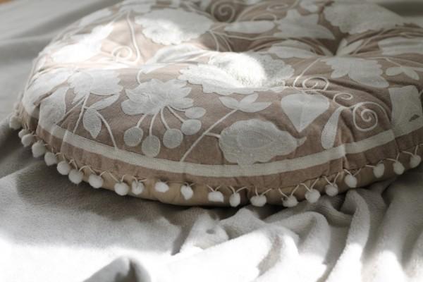 Sitzkissen, Grau, Ø 55 cm, H 5 cm