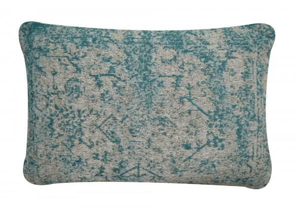 Kissen 'Lali', cremeweiß, grüntöne, T 40 cm, B 60 cm