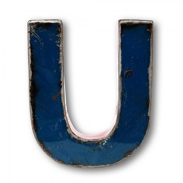 Metallbuchstabe 'U', multicolor, T 17 cm, B 21 cm, H 4 cm