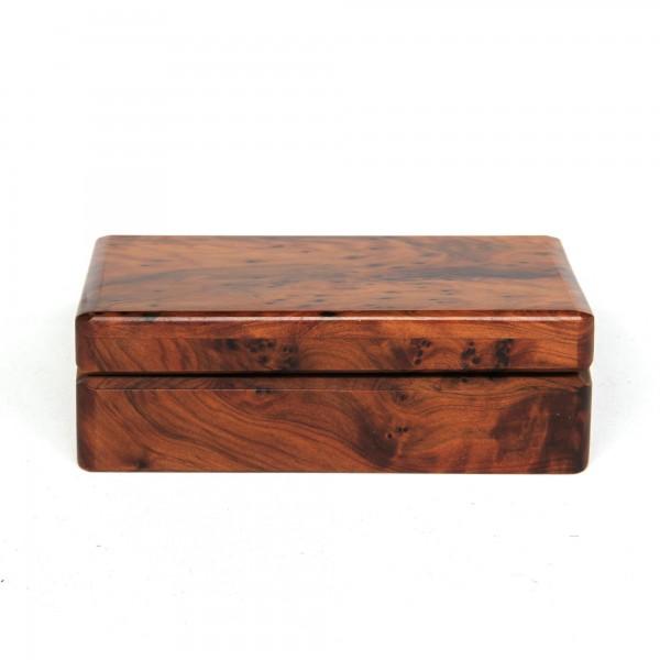 Thuja Box, braun, T 12 cm, B 12 cm, H 4 cm
