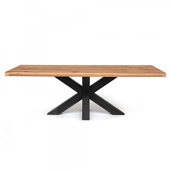 Esstisch 'Bendton', braun, schwarz, T 100 cm, B 240 cm, H 78 cm
