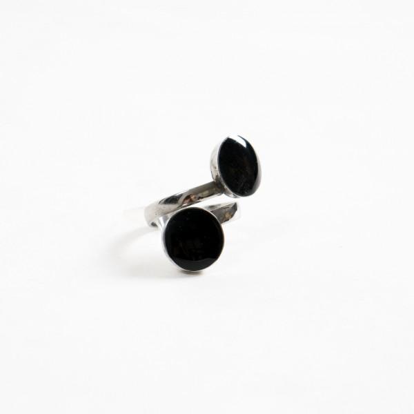 Spiralring, Stainless Steel, schwarz
