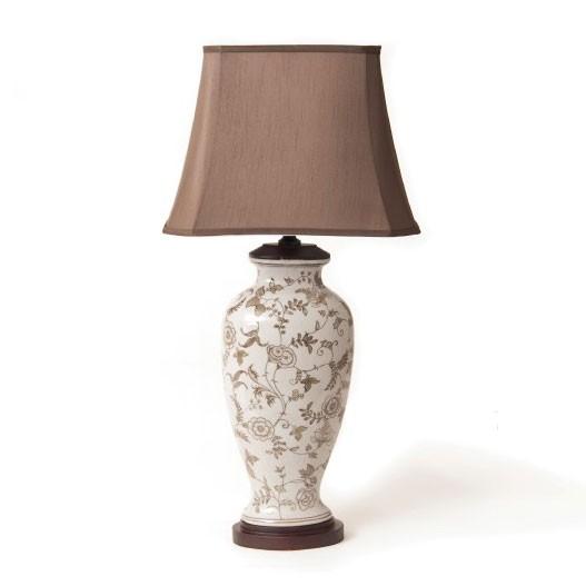 """Chinesische Keramikleuchte """"Jinping"""", H 82 cm"""