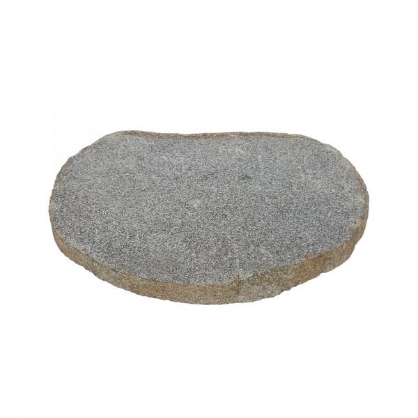 Gartenstein 'Riverstone', dunkelgrau, Ø 35 cm, H 3 cm