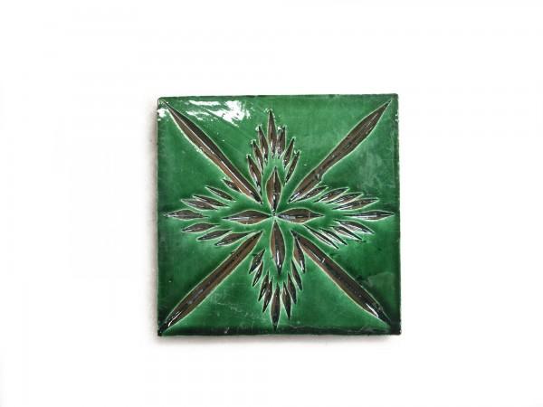 Kachel 'sapin vert', grün, T 10 cm, B 10 cm, H 1 cm