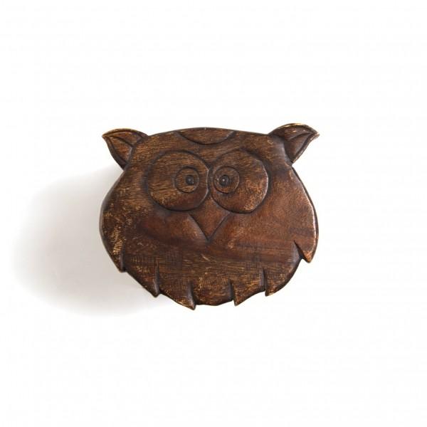 Massive kleine Hocker, braun, H 25 cm, Ø 25 cm