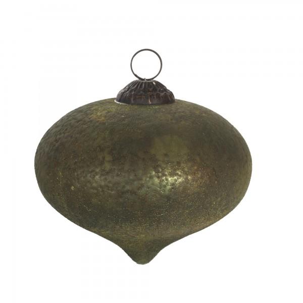 Anhänger Oval grün Ø12cm